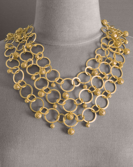 Big Bold Chunky Fashion Necklaces Bold in Gold Chunky Gold